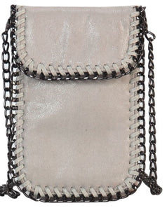Chain Trim Crossbody - KHAKI