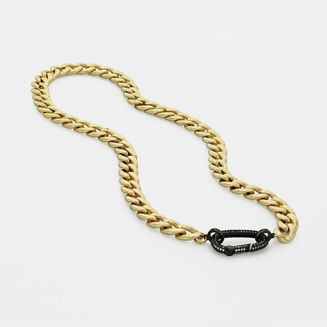 Chunky Chain With Pave Clip