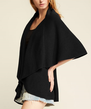Load image into Gallery viewer, Convertible Shawl Vest - BLACK
