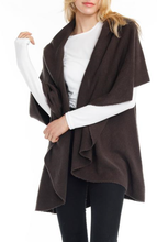 Load image into Gallery viewer, Convertible Shawl Vest - CHARCOAL
