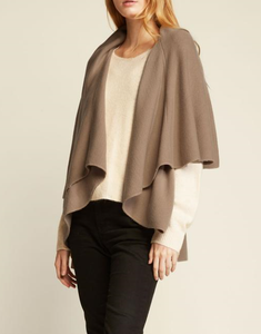 Convertible Shawl Vest - TAUPE