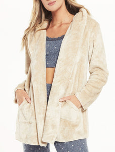 Cozy Feels Plush Cardi - BIRCH