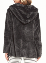 Load image into Gallery viewer, Cozy Feels Plush Cardi - CHARCOAL