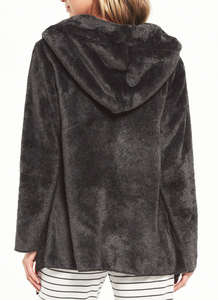 Cozy Feels Plush Cardi - CHARCOAL