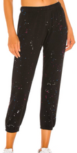 Load image into Gallery viewer, Crop Splatter Prnt Jogger - BLK/PNK