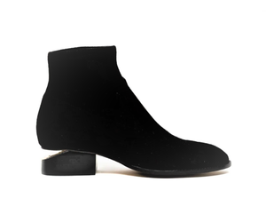 Cutout Heel Stretch Bootie - BLACK