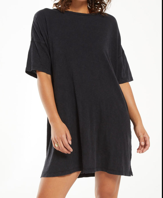 Delta T-Shirt Dress - WASHED BLACK