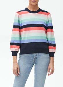 Dolly 3/4 Sleeve Puff Sleeve Cropped  Sweater - ADMIRAL