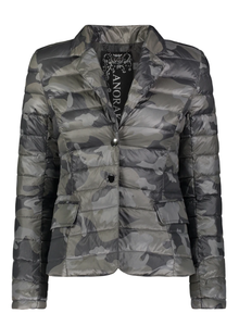 Down Blazer Jacket - BLK CAMO