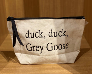 Duck Duck Grey Goose Embroidered Pouch - WHT