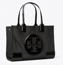 Load image into Gallery viewer, Ella Patent Mini Tote - BLACK