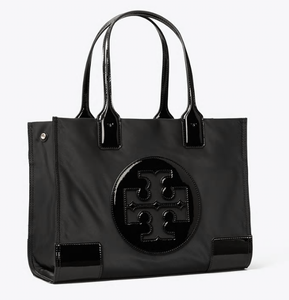 Ella Patent Mini Tote - BLACK
