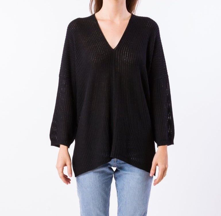 Falcon Tunic Sweater - BLK