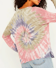 Load image into Gallery viewer, Fall Feeling Longsleeve Tie Dye Tee - BLU/BLSH