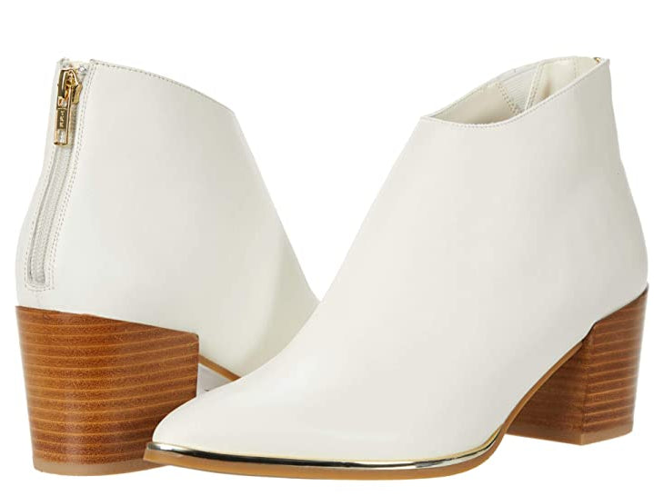 Gold Toe Plate Bootie - LATTE