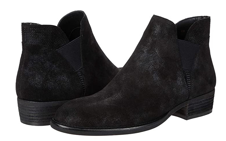 Gored Side Bootie - BLACK SUEDE