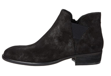 Load image into Gallery viewer, Gored Side Bootie - BLACK SUEDE