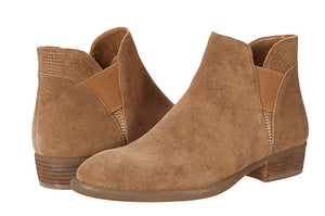 Gored Side Bootie - CAMEL