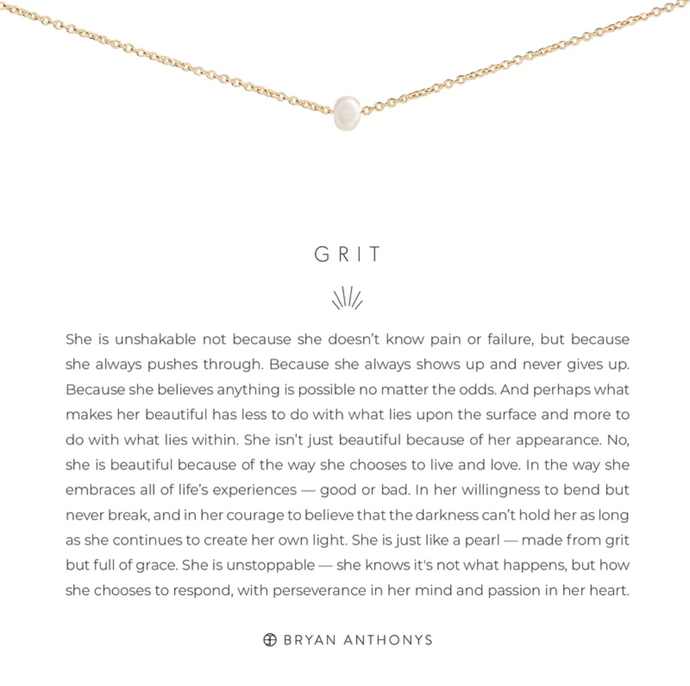 Grit Pearl Necklace - GOLD