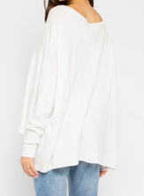 Load image into Gallery viewer, Hi Lo Dolman Sleeve Pullover - WHT