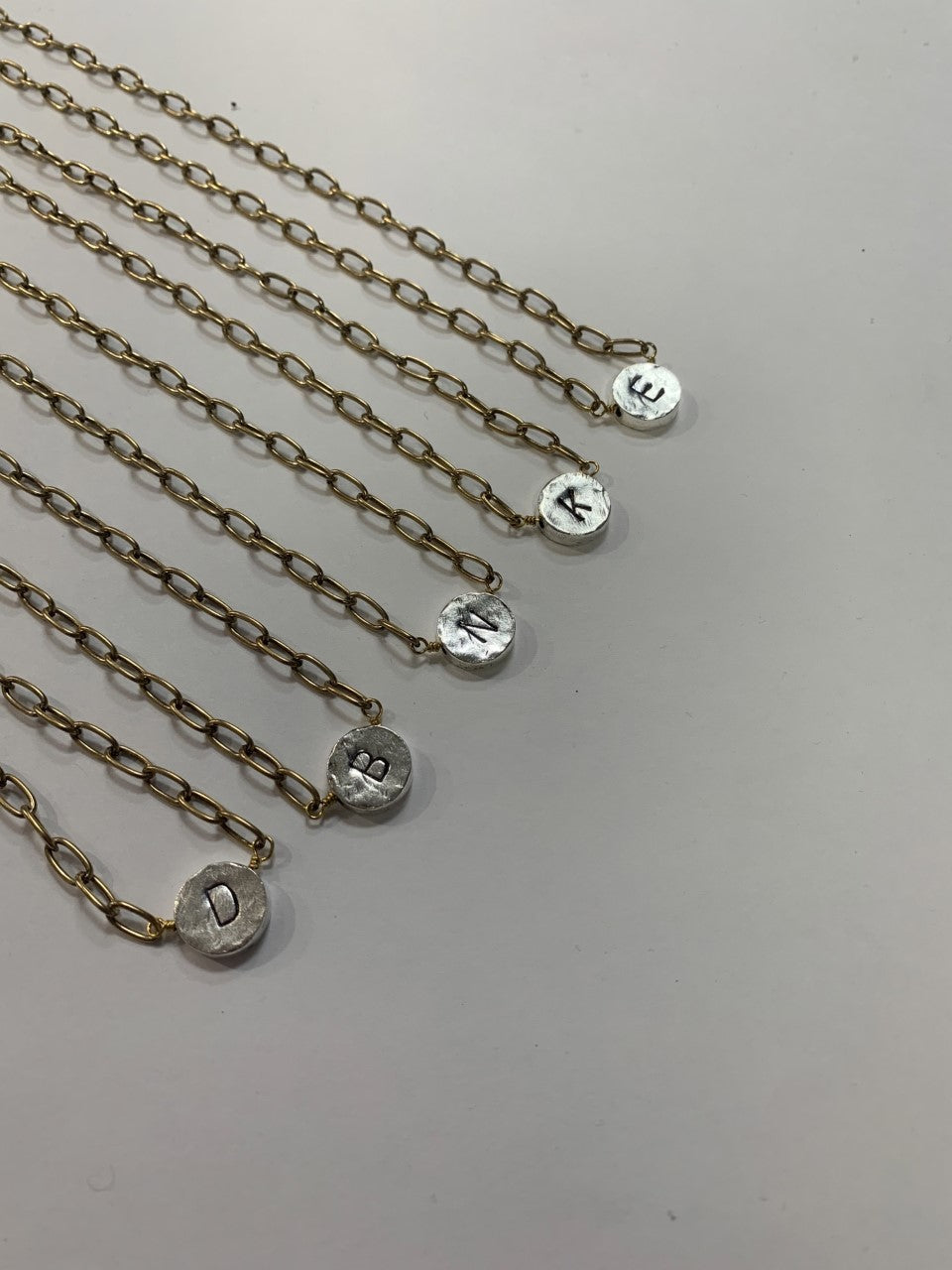 Initial Necklace-2Tone Reverse