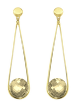 Load image into Gallery viewer, Ipanema Earrings - GOLD/CITRINE