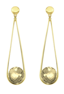 Ipanema Earrings - GOLD/CITRINE