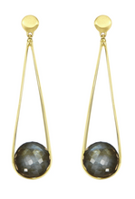 Load image into Gallery viewer, Ipanema Earrings - GOLD/LABRADORITE