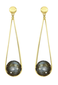 Ipanema Earrings - GOLD/LABRADORITE