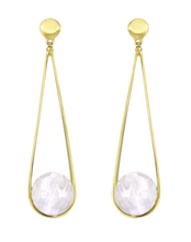 Load image into Gallery viewer, Ipanema Earrings - GOLD/MOONSTONE