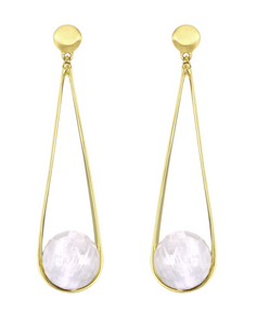 Ipanema Earrings - GOLD/MOONSTONE