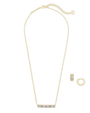 Load image into Gallery viewer, Kendra Scott Pendant & Huggie Gift Set - GD WHTCR