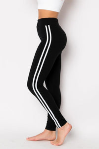 Jogger With Double Stripe - BLK/WHT