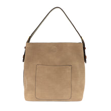 Load image into Gallery viewer, Faux Linen Hobo Handbag