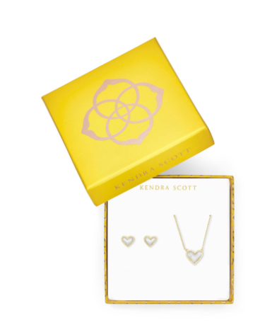 Kendra Scott Heart Pendant & Gift Set - GD IVMOP
