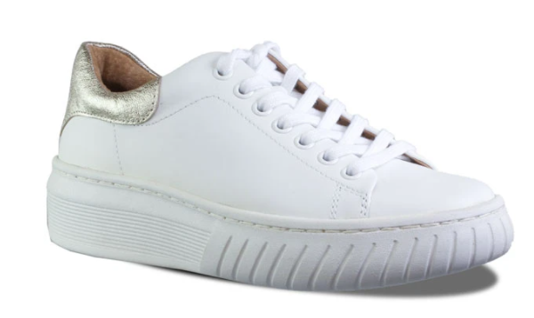 Lace Up Sneaker - WHT/PLAT