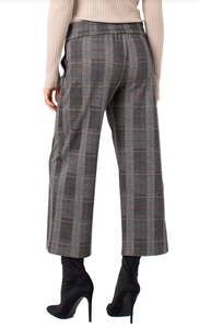 Mabel Pull On Wide Leg Pant - BLACK/GREY MULT