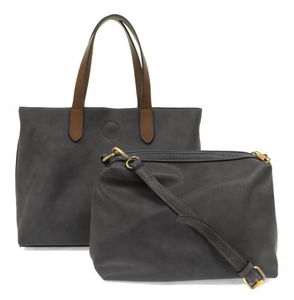 Mariah Medium Convertable Tote - SLATE