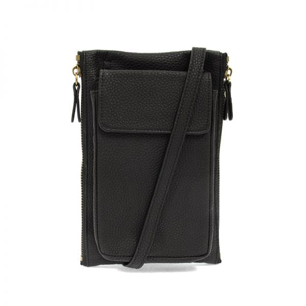 Mary Multi Pocket Crossbody - BLACK