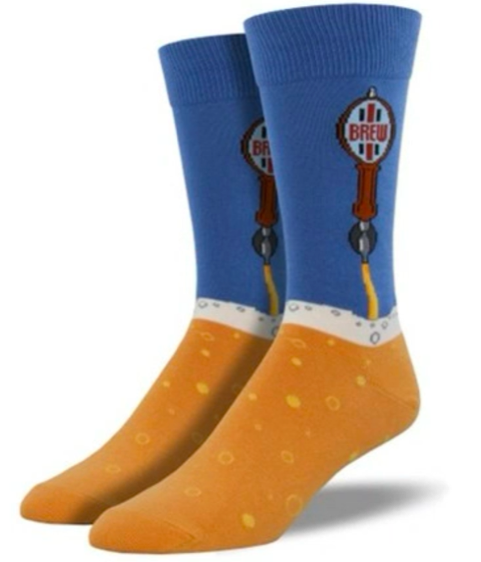 Mens Beer Tap Socks - BLUEFOG