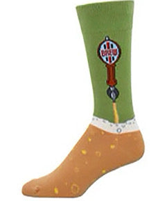 Mens Beer Tap Socks - MOSS
