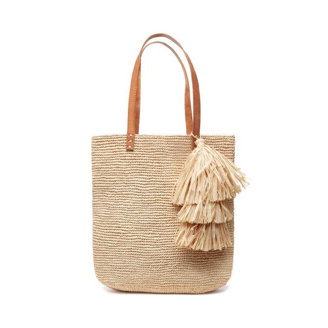 North/South Shoulder Tote - NATURAL