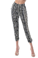 Load image into Gallery viewer, Ariella - Snake Print Jogger Pant