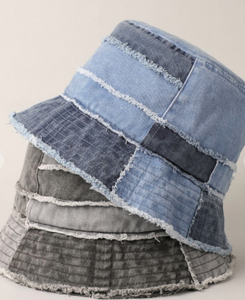 Patchwork Denim Bucket Hat