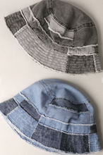 Load image into Gallery viewer, Patchwork Denim Bucket Hat