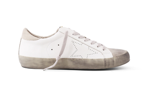 Perforated Star Side Sneaker - WHT