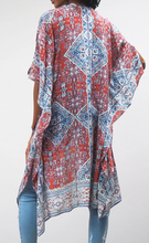 Load image into Gallery viewer, Print Kimono - RUST