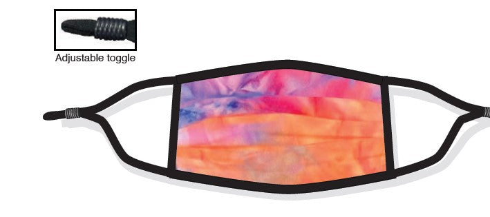Psychedelic Tie Dye 2 Ply Face Cover - PSYCHEDELIC TIE DYE