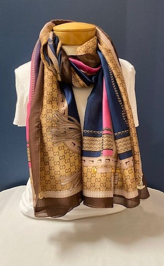 Rope/Tassel Light Weight Scarf