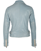 Load image into Gallery viewer, Vintage Leather Moto Jacket